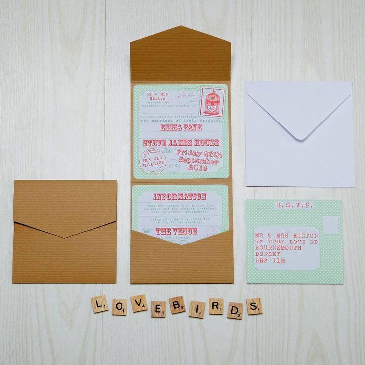 birdcage wedding invitation template%0A Pocketfold Lovebirds Birdcage Bird Wedding Invitation