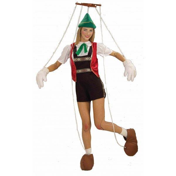Disfraz de Pinocho marioneta (mujer)