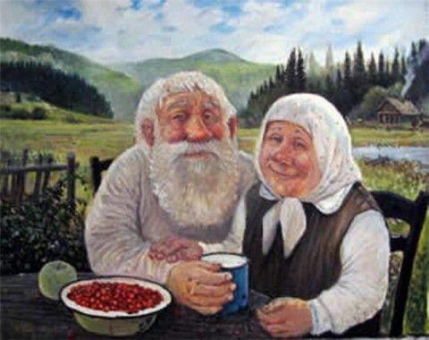 дед с бабкой за столом - Поиск в Google