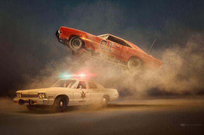 Photographer Felix Hernandez Shoots Epic Scenes Using Miniature Cars ... #fstoppers #BTS #FstoppersOriginals #Photoshop #Studio