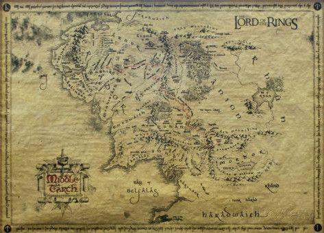 Herr der Ringe - Landkarte