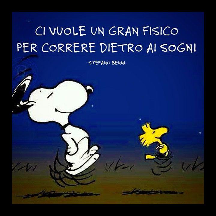 Per correre dietro ai sogni ci vuole un gran fisico. (Stefano Benni) #aforismi