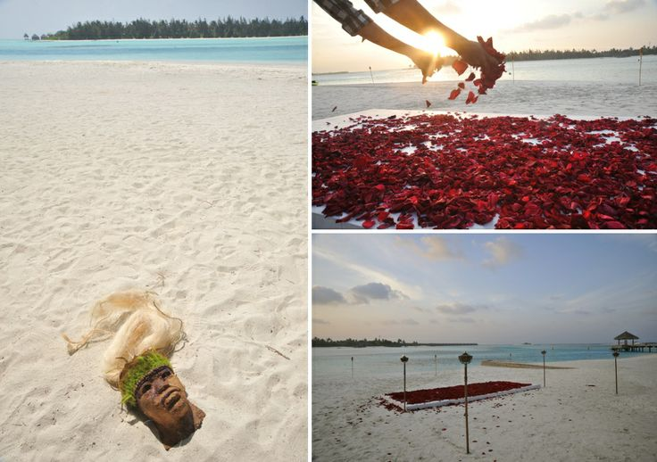 Romantic details for a Jungle themed Wedding @ Anantara Hotel , Maldives