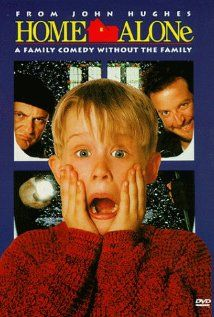 "Home Alone ~ ""An 8-year-old boy, who is accidentally left behind while his family flies to France for Christmas, has to defend his home against idiotic burglars."""