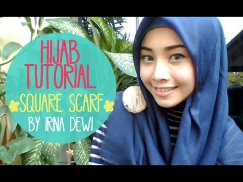 hijab tutorial #11 Easy Square ( jilbab paris ) - YouTube