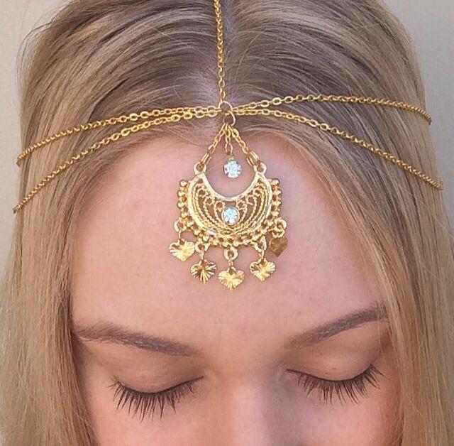 Handmade Gold Aphrodite Head Chain