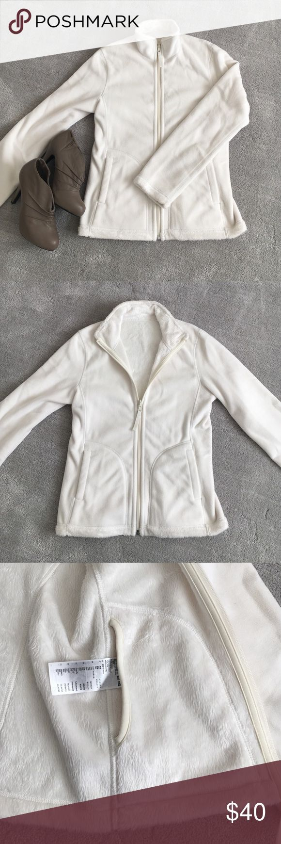 ❄️ NWOT Uniqlo fleece lined zip jacket Beautiful soft jacket to keep you warm this chilly winter! Brand new condition. Jacket features two exterior pockets as well as two interior pockets. The lining is extremely soft like being enveloped in a stylish blanket 😌 Fits like a small-medium Uniqlo Jackets & Coats