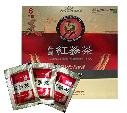 Korean Red Ginseng Tea 3g x 50 Packets Korean Ginseng Tea Made in Korea - 6 Year Roots >>> More info could be found at the image url.