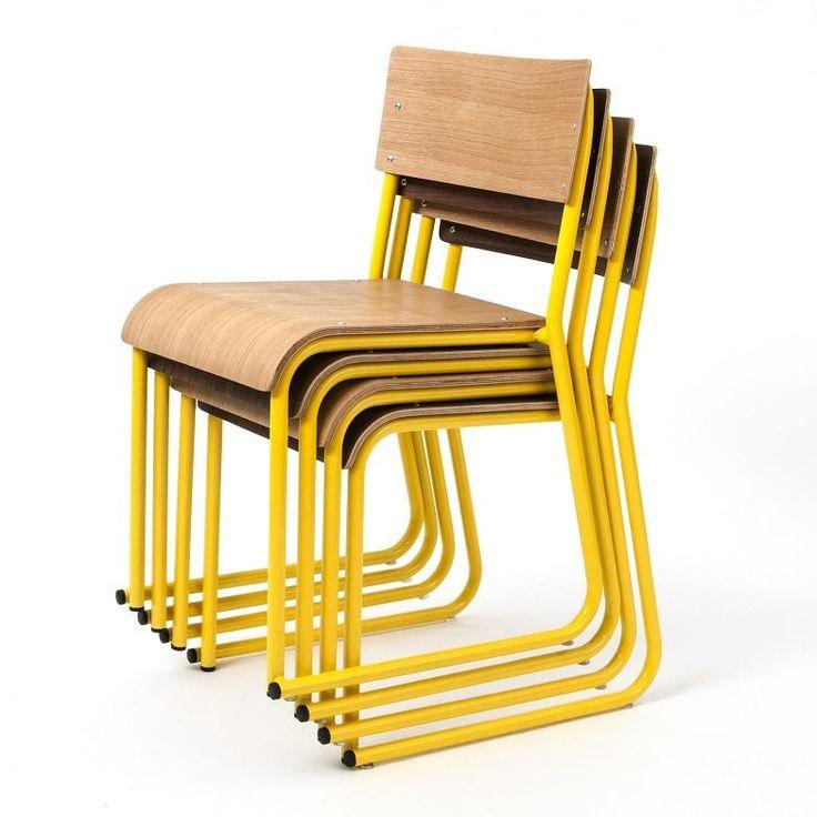 Gus* Church Dining Chair In Oak/Yellow #globewest #gus #chair #