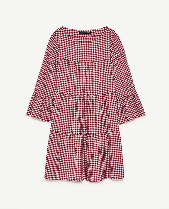 Image 8 of GINGHAM MINI DRESS from Zara