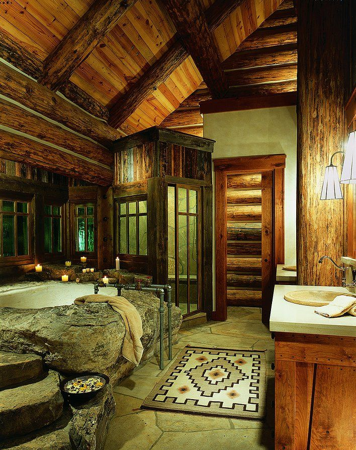 Superb Bachelor Gulch Residence Bathroom In Beaver Creek, Colorado (RMT Architects)