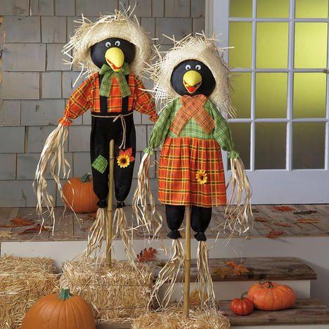 Mr Amp Mrs Crow Scarecrow 24 99 29 99 Halloween