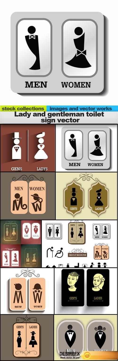 Find your Grapfix Desire With US http://www.desirefx.me/lady-and-gentleman-toilet-sign-vector-10-x-eps/