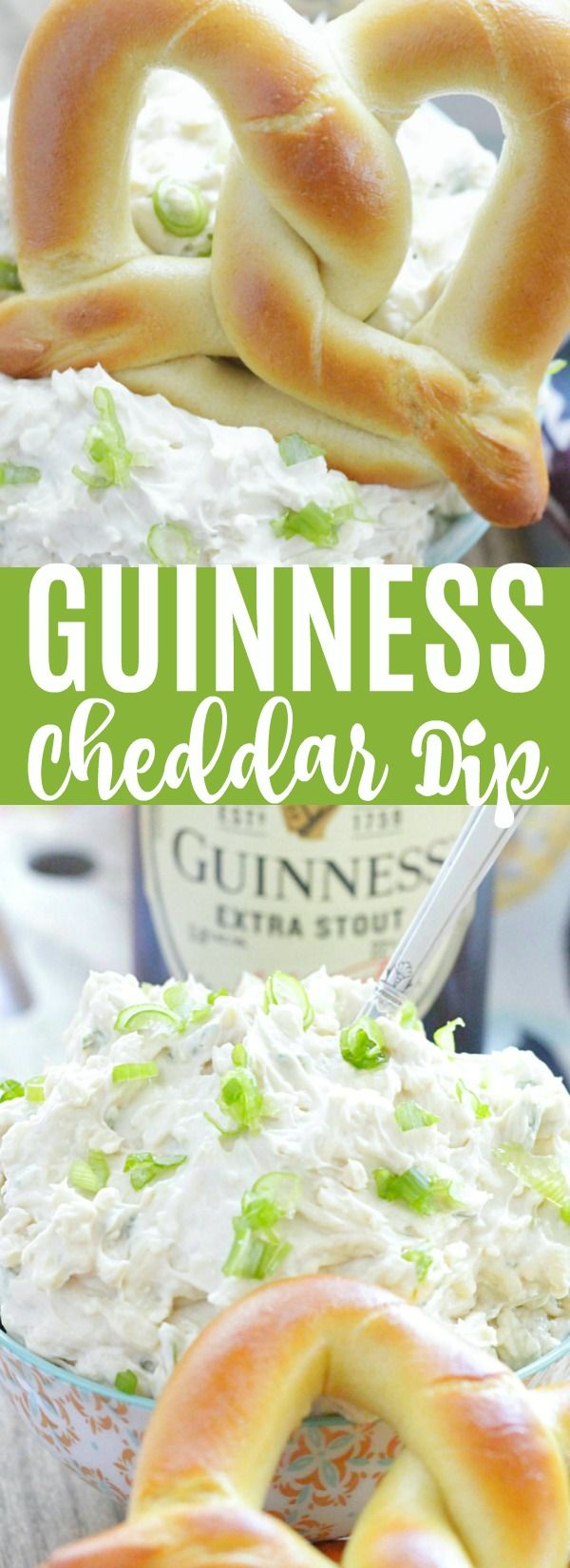 Guinness Cheddar Dip is like an Irish version of beer cheese and is a terrific last-minute appetizer to make for your St. Patrick's Day celebration.