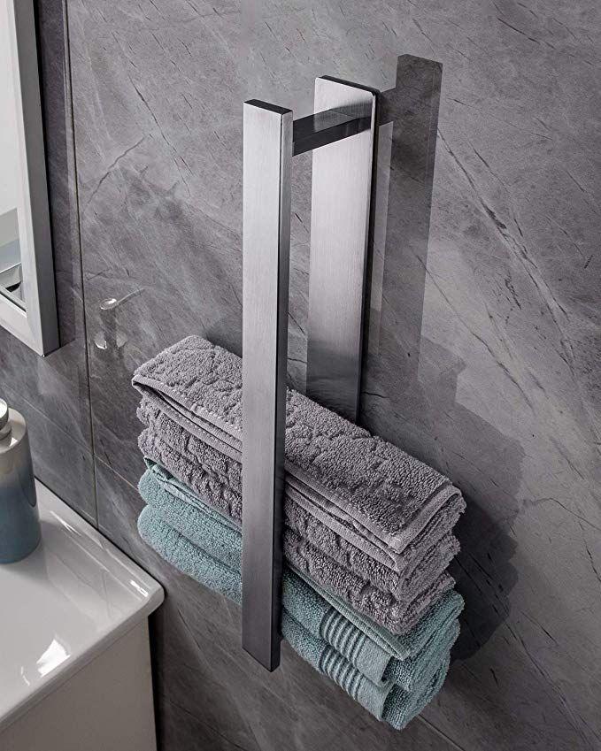 Firma Yigii Handtuchhalter Chrom Baumarkt Eisenwaren Badezimmer Zubehor Handtuchhal In 2020 Handtuchhalter Bad Ohne Bohren Handtuchhalter Ohne Bohren Handtuchhalter