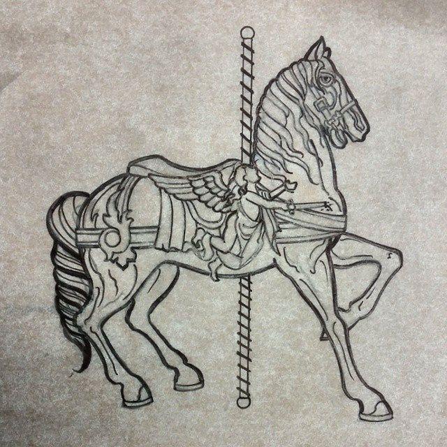 25 Best Ideas About Carousel Horse Tattoos On Pinterest