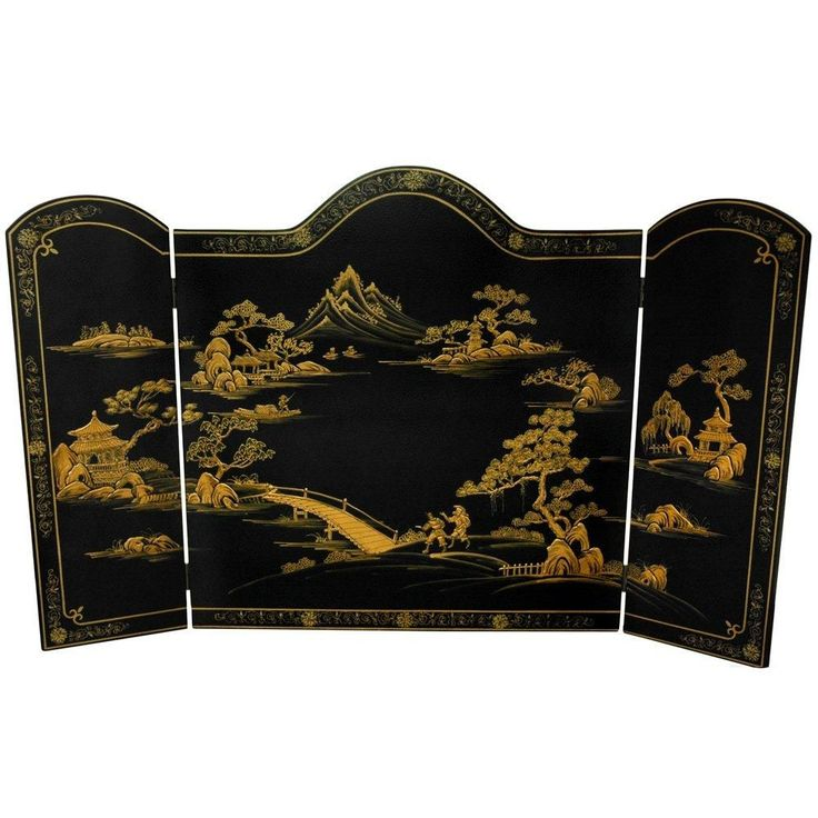 asian fireplace screen