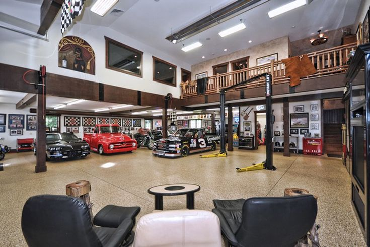 This is one of the most incredible garages/man caves we've ever seen