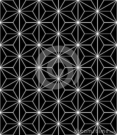Vector Modern Seamless Sacred Geometry Pattern, Black And White ...
