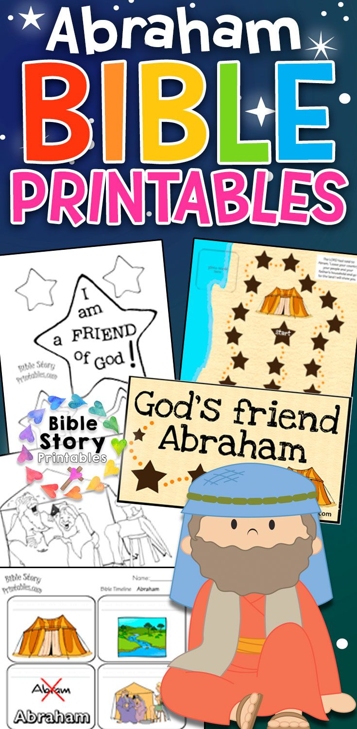 Free Abraham Bible Printables for Children's Ministry  I am