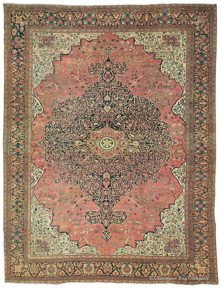 Ferahan Sarouk Antique Persian Rug With Delicate Designs