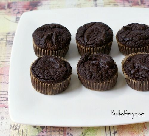 chocolate squash muffins: 2 cups cooked acorn, kabocha or butternut squash 4 Tbsp ghee or butter, melted (how to make ghee) (Where to buy ghee) or coconut oil 4 eggs 4 Tbsp honey (where to buy) 1/2 tsp stevia (optional) 1 tsp vanilla 1/4 cup cacao powder 1/2 cup coconut flour 1 tsp baking soda 1 tsp salt (where to buy salt and spices)