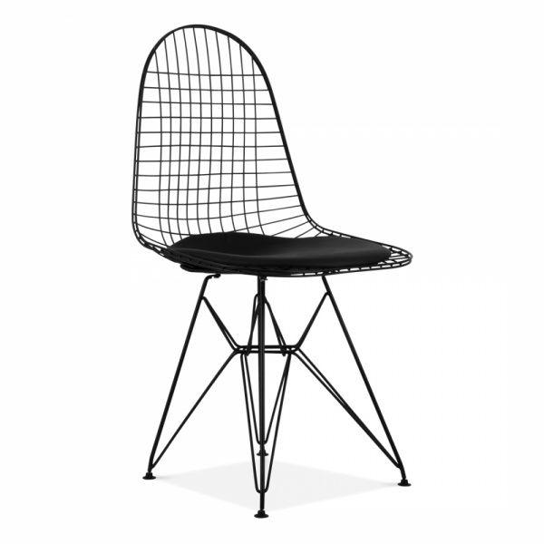 Scandi Designs Chaise Style DKR Fil de Fer - Noire ...