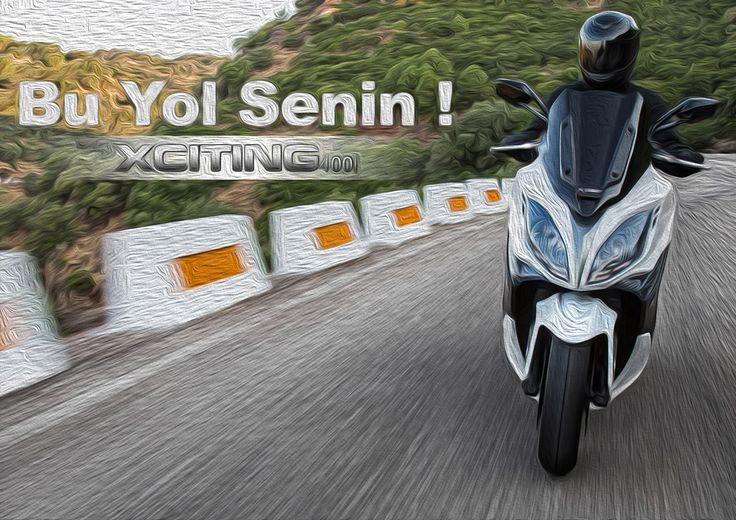 Sürücülerine lüksü, özgürlüğü ve güvenliği sağlayarak onları heyecan verici yolculuklara sürüklüyor; XCiting 400i www.kymco.com.tr