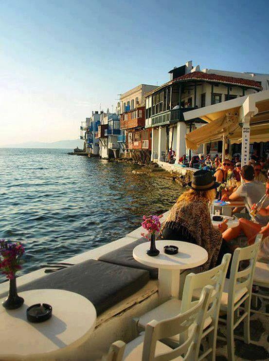 Little Venice in Mykonos island ~ Greece....we had the most romantic dinner here......loooove!