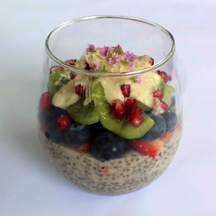 Chia Seed Pudding with a Chai Cashew Cream.  Another scrummy sensation that I completed as part of my Plantlab Culinary coursework.