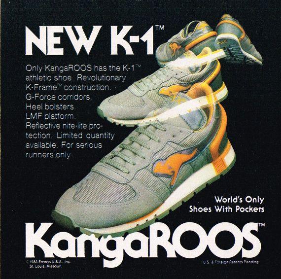 1983 KangaROOS K-1 Athletic Running Shoe Print Ad digital download by  DigiAds