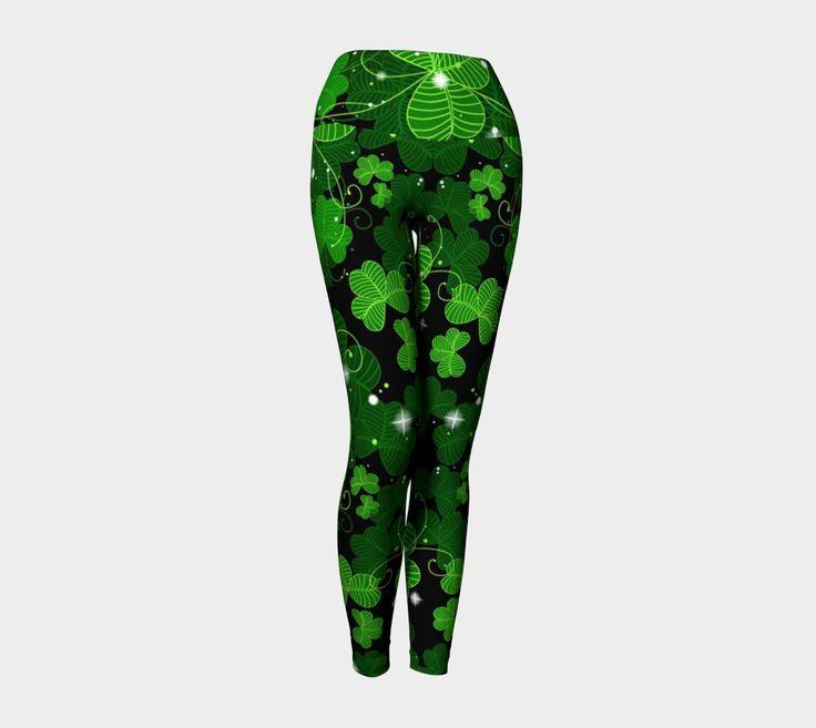 10 dollars off! St Patricks day, 4 leaf clover, shamrock leggings, green and white leggings, Irish leggings, shamrock leggings by ImagineAvalon on Etsy https://www.etsy.com/listing/497525706/10-dollars-off-st-patricks-day-4-leaf