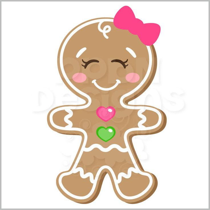 185 Best Christmas Clipart Gingerbread Images On