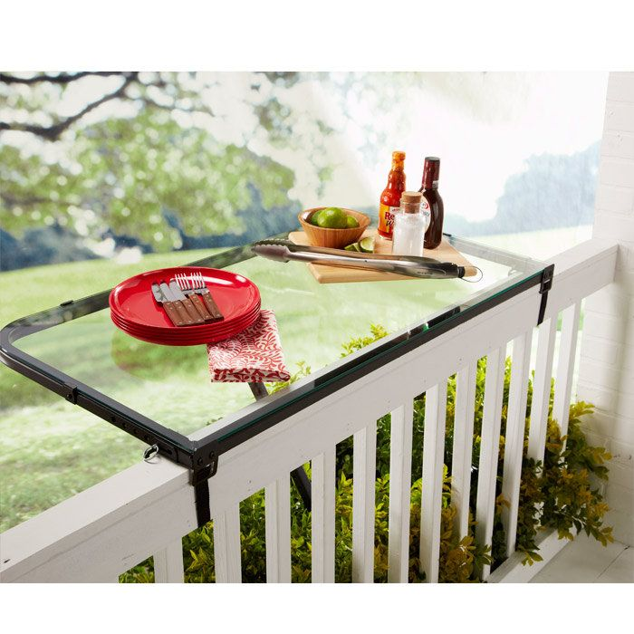 DeckMATE Rail Tray Provides An Instant Table For Your Balcony