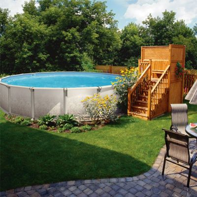 Une piscine hors terre qui a du style piscine for Amenagement piscine hors sol photo