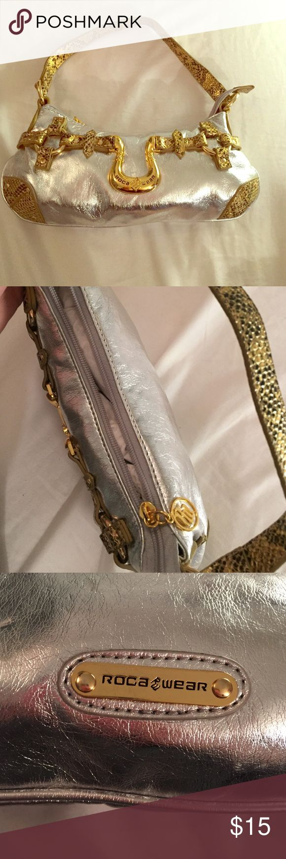 Gold and Silver Shoulder Bag Small Roca wear shoulder bag Rocawear Bags Mini Bags