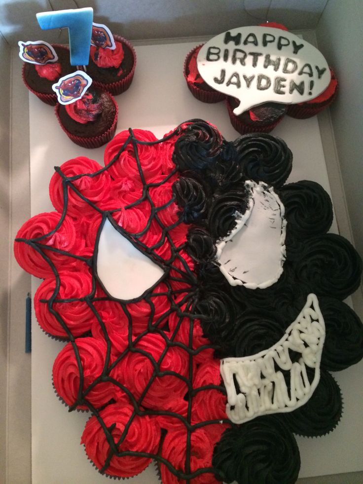 Spiderman Vs Venom Pull Apart Cake Cakes I Make Nummy