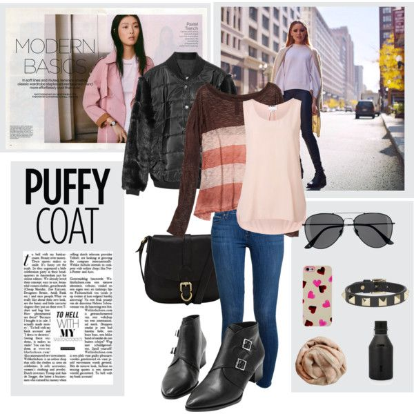 """""""Puffy coat"""" by gelykou on Polyvore"""