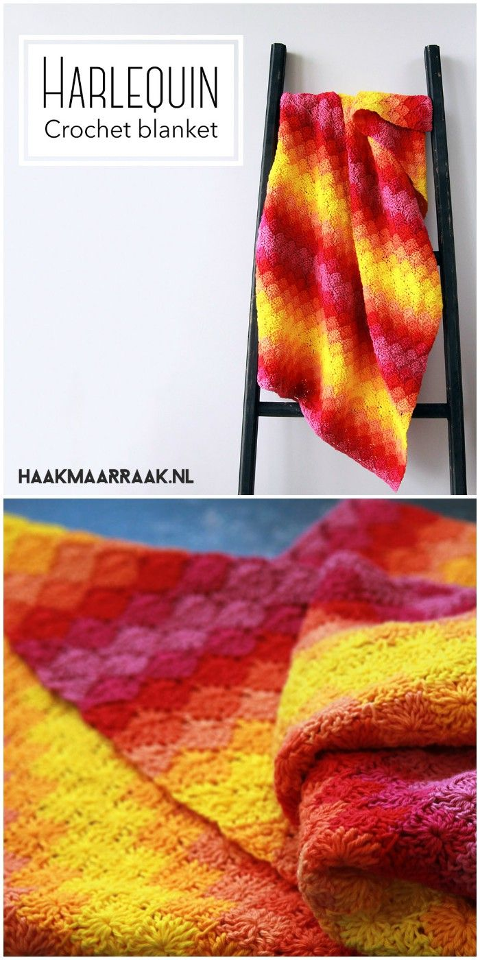 I show you some of the best free crochet Blankets patterns that will really inspire you to try them out with your own hands!Free Crochet Pattern Harlequin Blanket