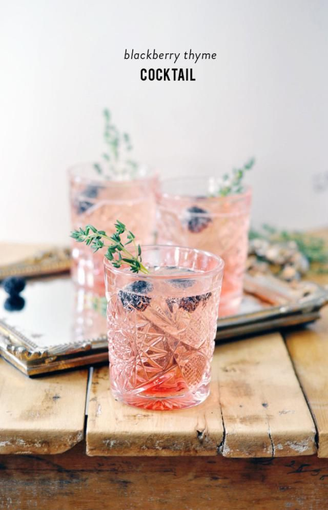 12 Cocktails for Spring Entertaining: Blackberry Thyme Cocktail