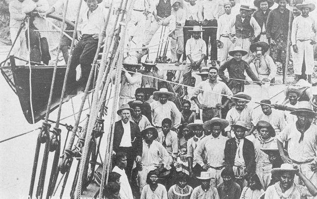 South Sea Islanders arriving by ship in Bundaberg, Queensland, c. 1910 | State Library of Queensland Flickr