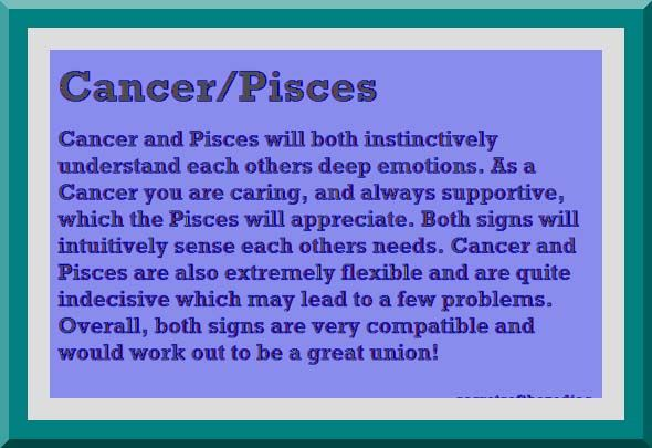 Cancer and Pisces Relationship   Image of an astrological horoscope symbol
