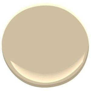 Benjamin Moore Lenox Tan, warm beige paint colour with gold undertones