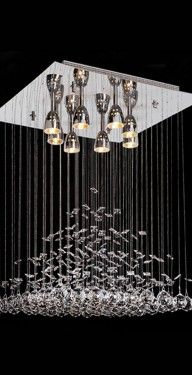 dml candil o lampara piramide cristal cortado cromo moderno diseo altura ajustable