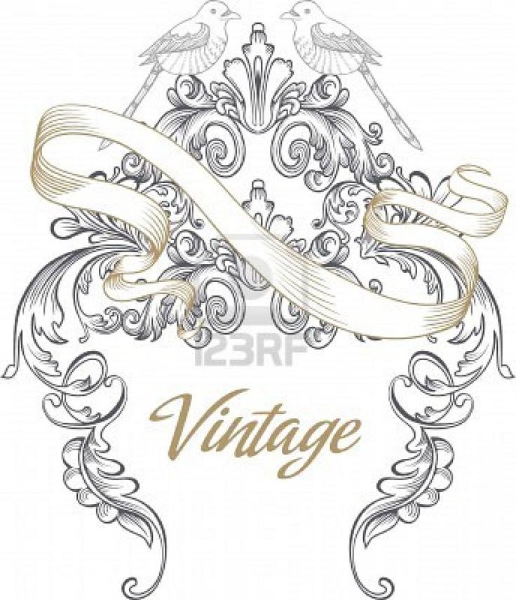 73 best Victorian   Flourish images on Pinterest Ornaments - best of invitation card vector art