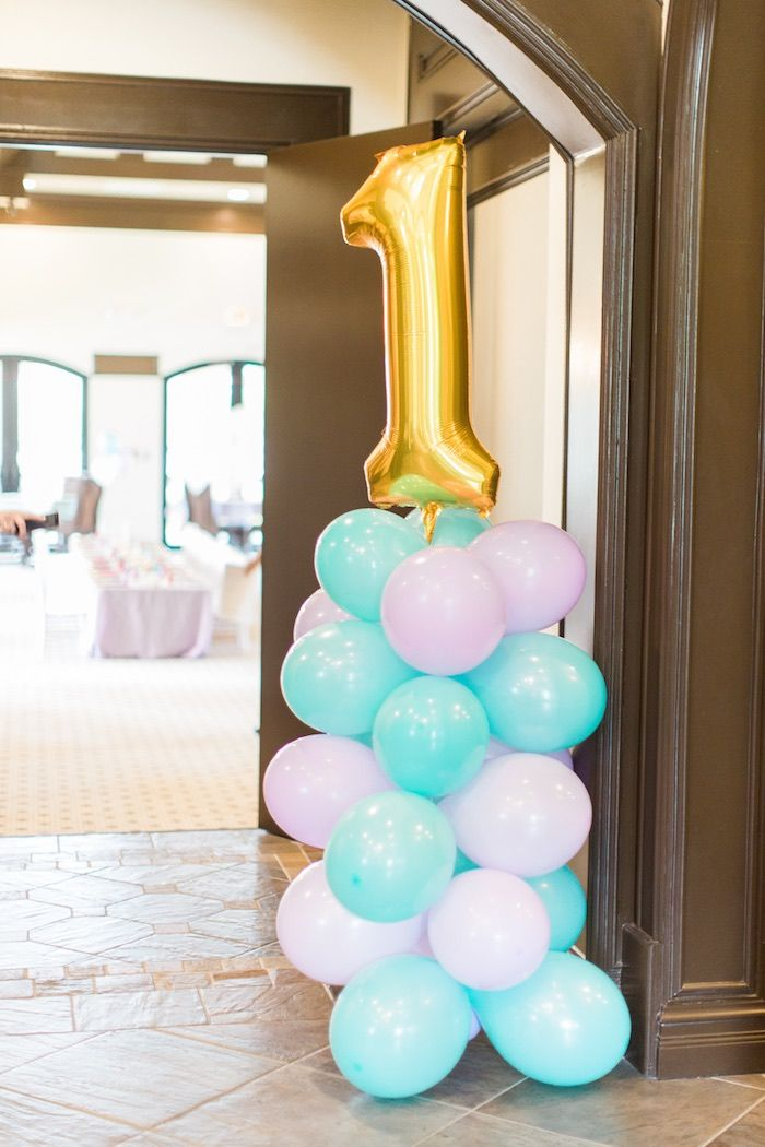 Party balloons from Mermaids & Pirates Birthday Party at Kara's Party Ideas. See the whole shindig at karaspartyideas.com!