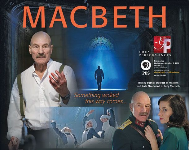"WORLD HISTORY & LIT: PBS William Shakespeare's ""Macbeth""  The play is online at PBS.org ( Patrick Stewart ) & Curriculum Guide, too. We also used the Macbeth study guide found in  the ABEKA's English Literature teacher's manual- http://www.abeka.com/ABekaOnline/BookDescription.aspx?sbn=86029"