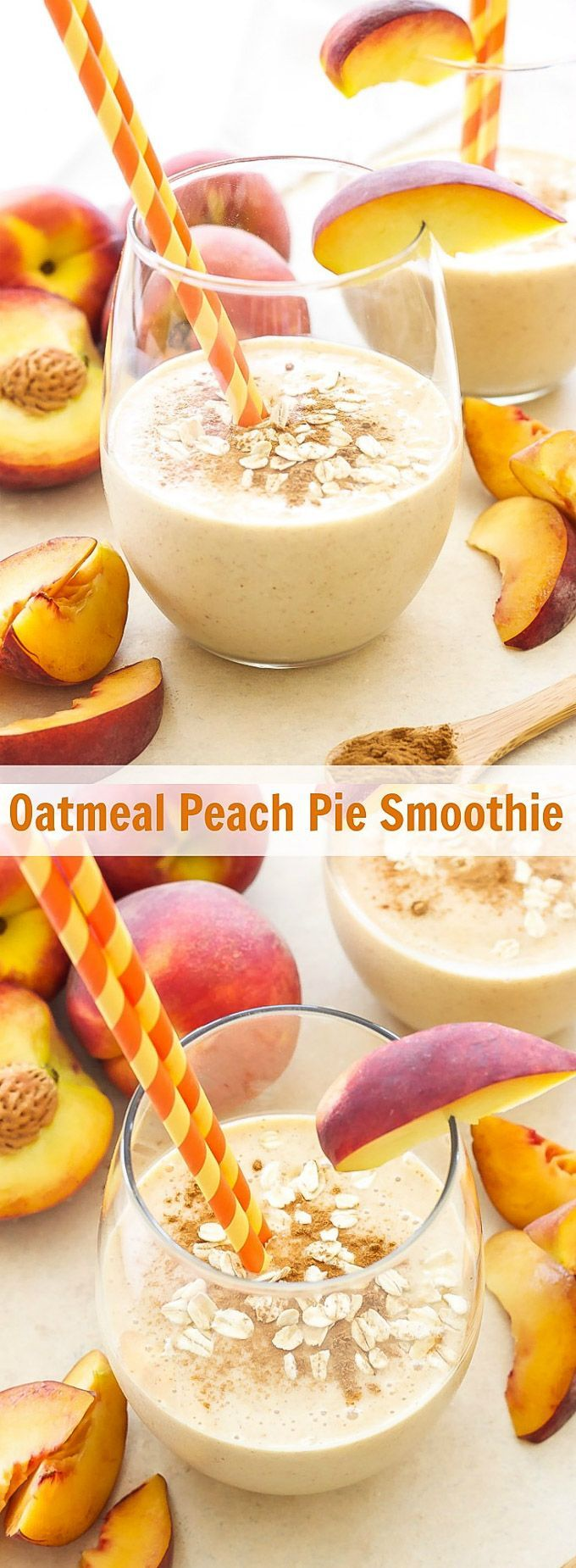 Oatmeal Peach Pie Smoothie