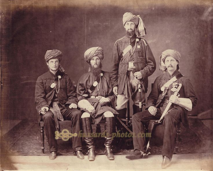 Officers of the 1st Sikh Irregular Cavalry (Probyn's Horse) c.1860