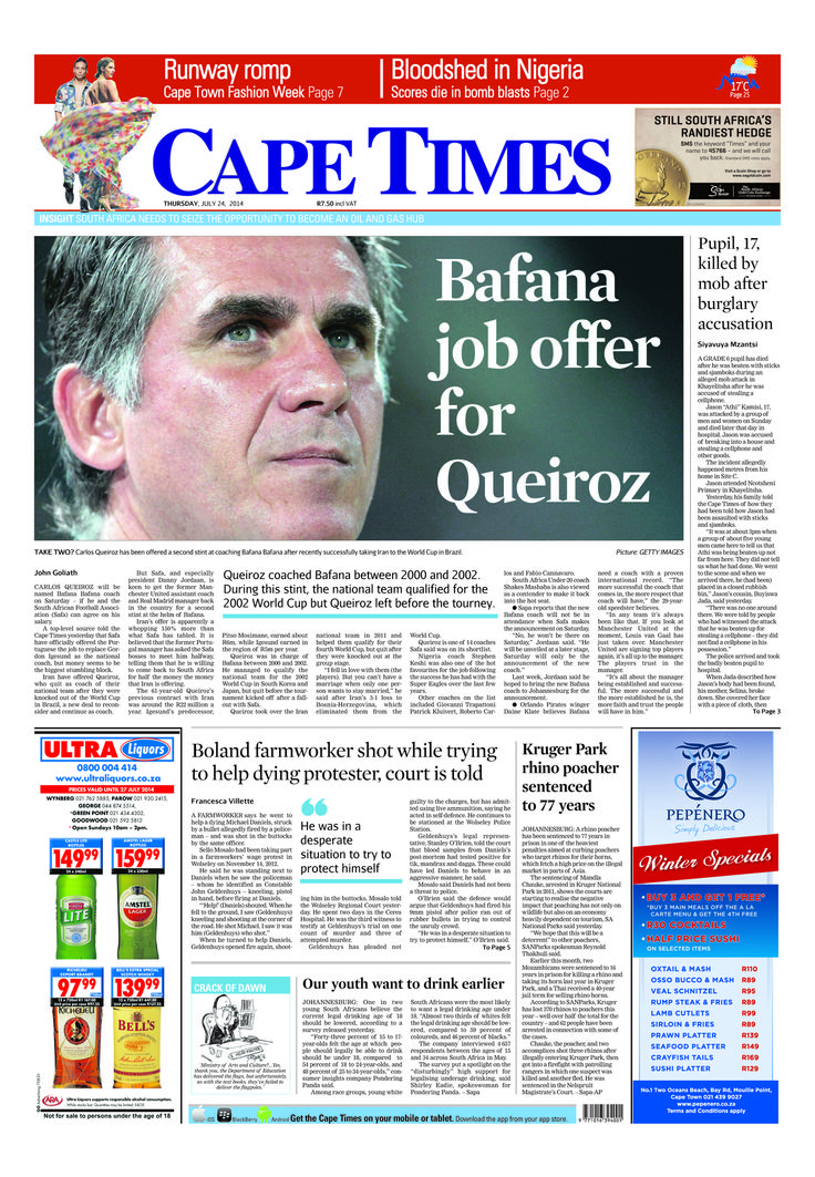 News making headlines: Bafana job offers for Queriroz